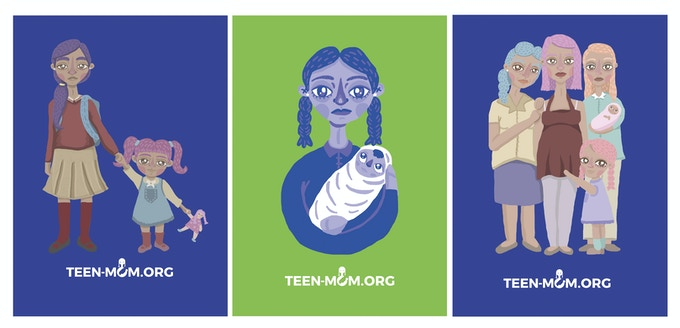 Illustrations inspired on photos from TEEM MOM Project