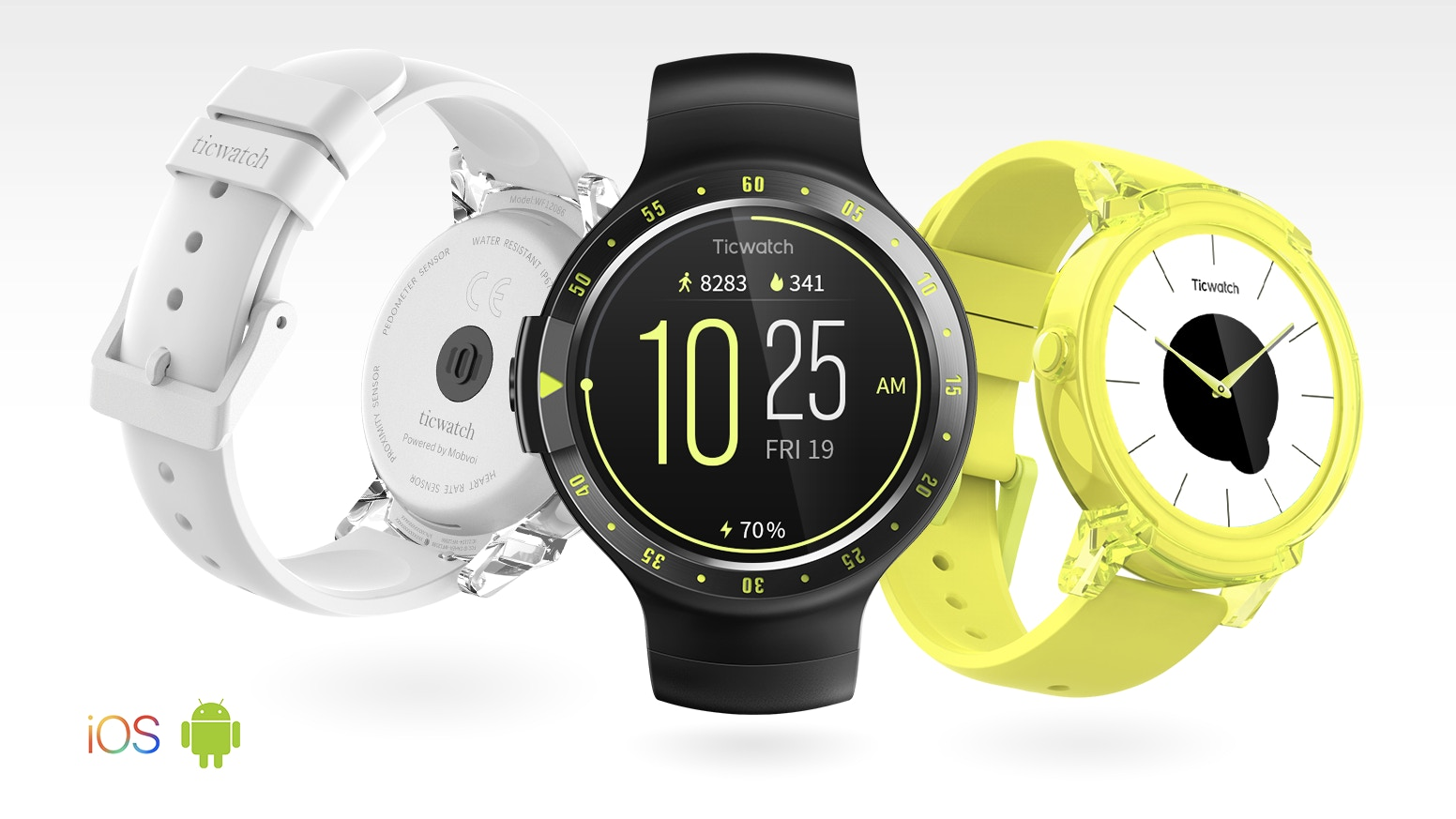 Powered by Android Wear™. Compatible with Android™ and iOS.