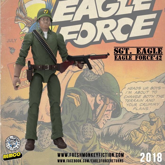 Sgt. Eagle ...Captain Eagle's father, the founder of Eagle Force.