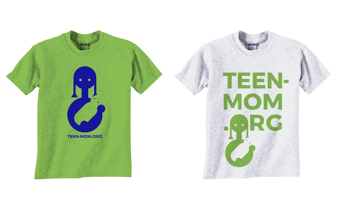 Rewards: T-shirts with designs from TEEN MOM project