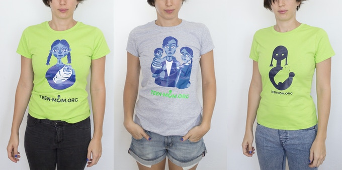 Rewards: T-shirts - Five designs available