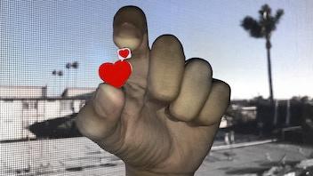 Love Speaks Enamel Hearts Pin