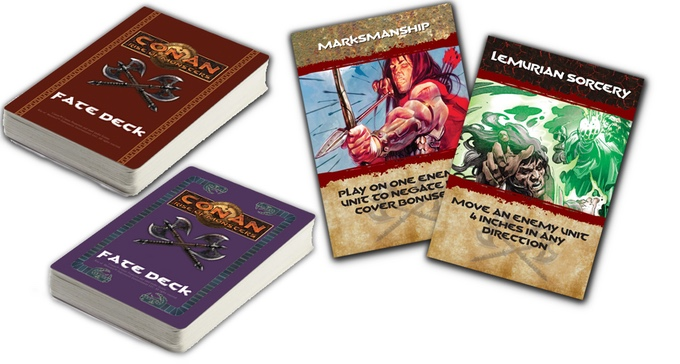 The Fate Deck. Take advantage of extra movement, hit harder, or foil your foe's moves. Of course, she has her own Fate Deck too!
