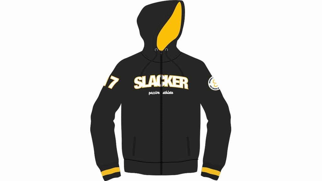 Looking for the ultimate slacker zip hoodie? Here it is! Premium quality, brushed inside, pockets on side. All over - very exclusive