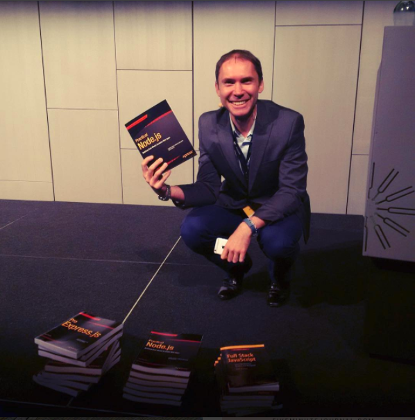 Azat is signing and giving away Practical Node.js books at the JSConf Iceland conference