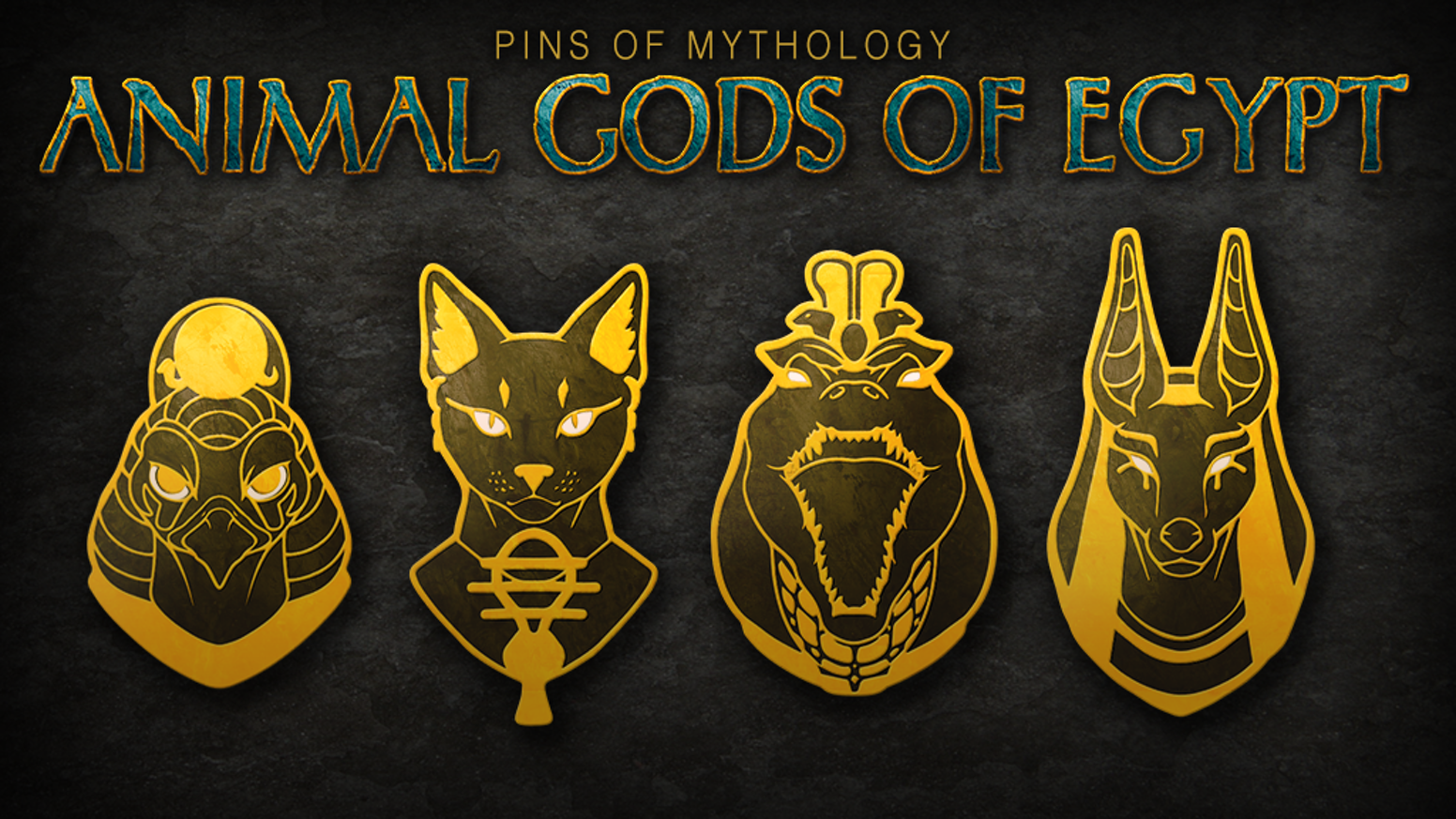 Pins of mythology animal gods of egypt by jessy smith kickstarter 15 gold hard enamel pins inspired by the animal gods of ancient egypt this publicscrutiny Image collections