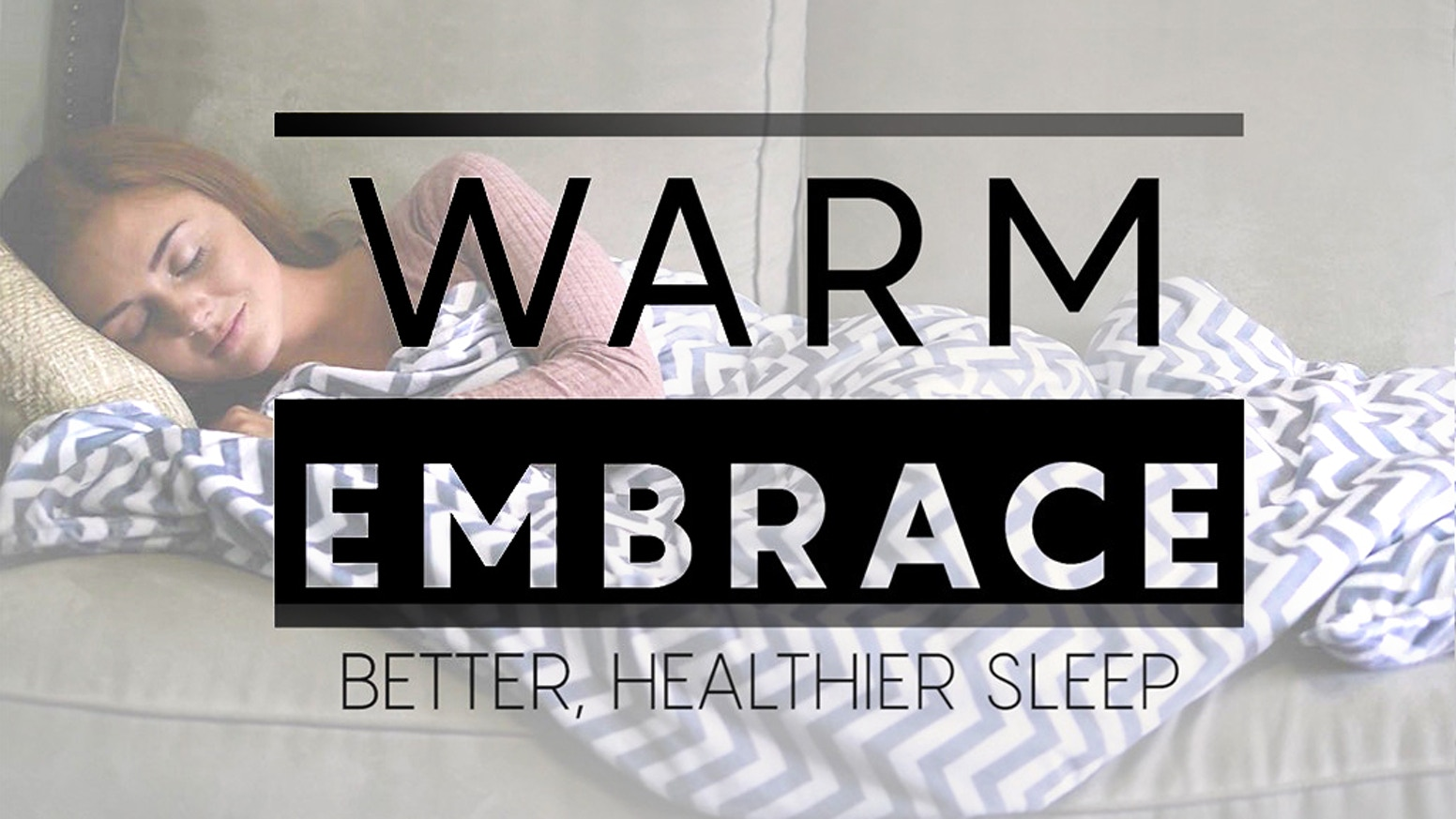 The weighted blanket that forms to your body to make you feel safe and comfortable.