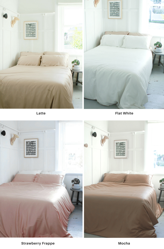 Our complete Bamboo Coffee Bedding Collection