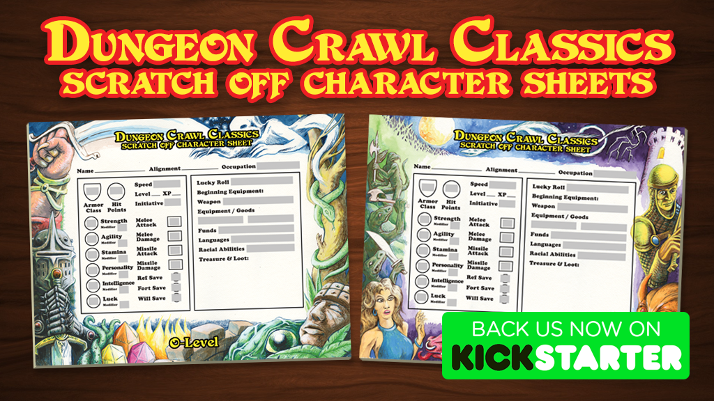 Dungeon Crawl Classics Scratch-Off Character Sheets project video thumbnail
