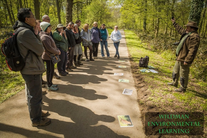 """A nature sensory workshop led by Stuart """"The Wildman"""" Mabbutt. Image by William Mankelow, Shot At An Angle"""