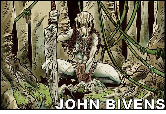 Artist JOHN BIVENS (Dark Engine, Spread, Heavy Metal)