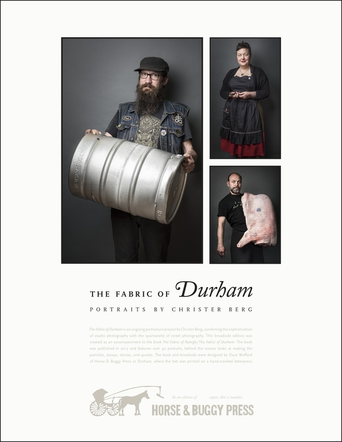 The Fabric of Durham broadside ($99 with book)