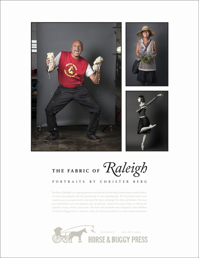 The Fabric of Raleigh broadside ($99 with book)