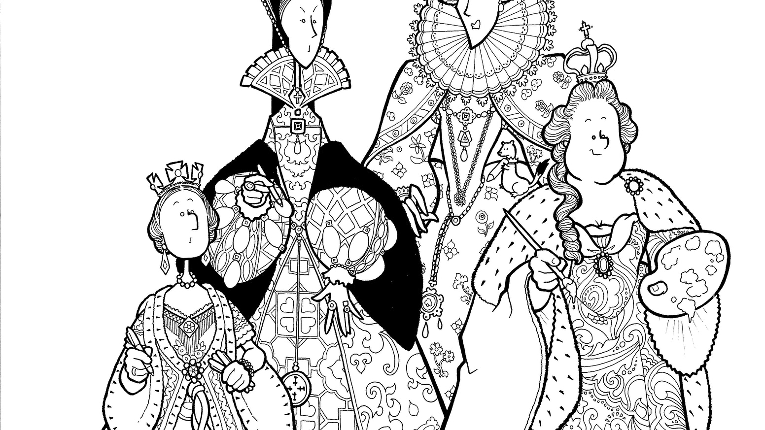 The Dead Queen Detectives Colouring Book by Bevis Musson — Kickstarter