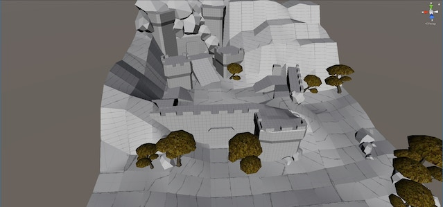 In this version, the player starts near the outpost. There was not enough space for enemies.