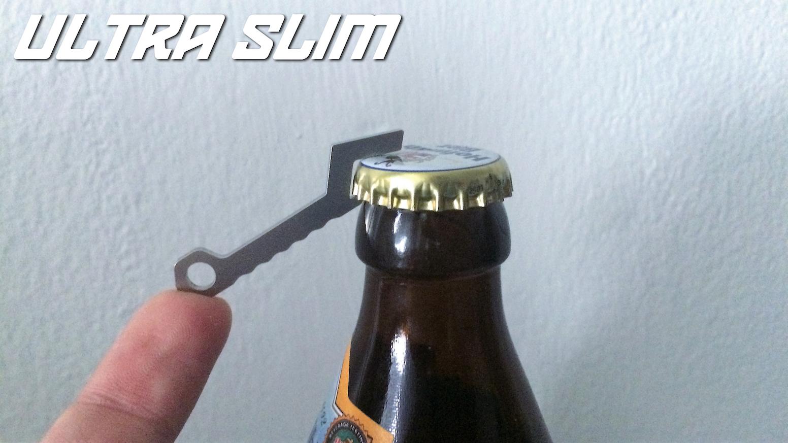 ultra slim bottle opener stainless steel by niklas w kickstarter. Black Bedroom Furniture Sets. Home Design Ideas