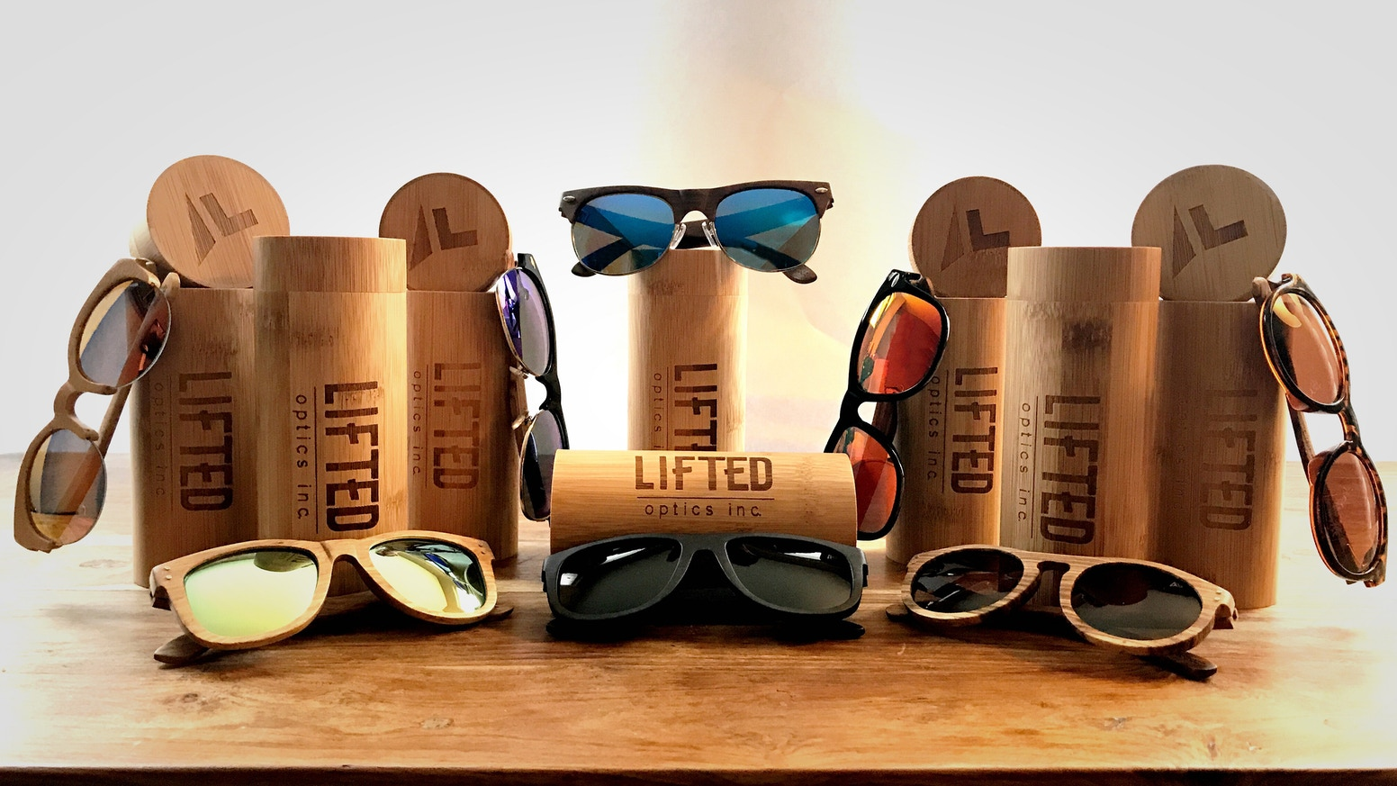 Lifted is bringing you a pair of polarized wood framed sunglasses, and planting a tree for every single pair sold! Live. Life. Lifted.