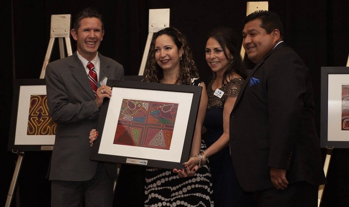 """The day we received the Recognition """"Hispanic Emerging Small Business of the year 2016"""" by Hispanic Chamber of Commerce in St. Louis - Missouri."""