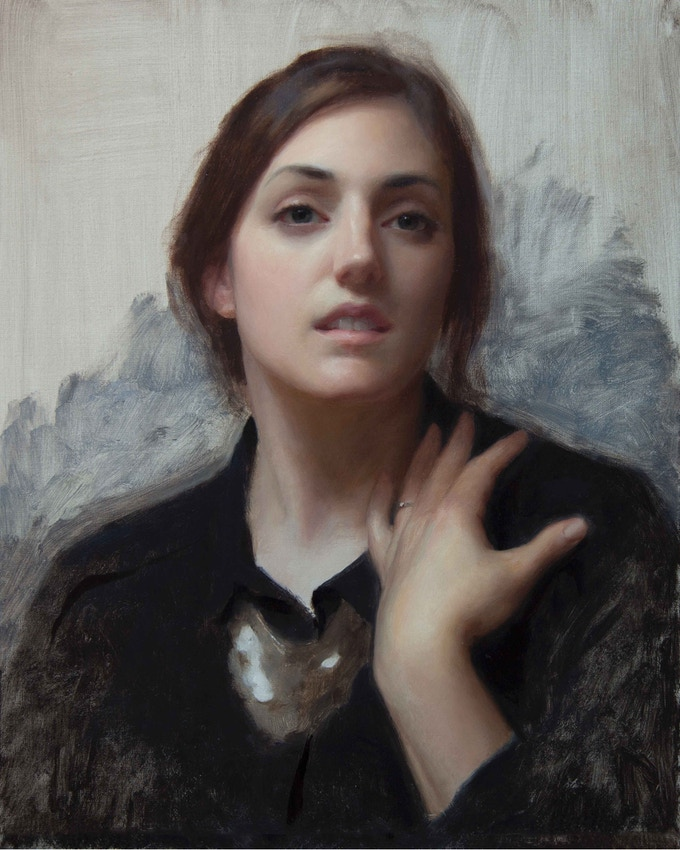 Laura In Black, 20x16, oil on linen