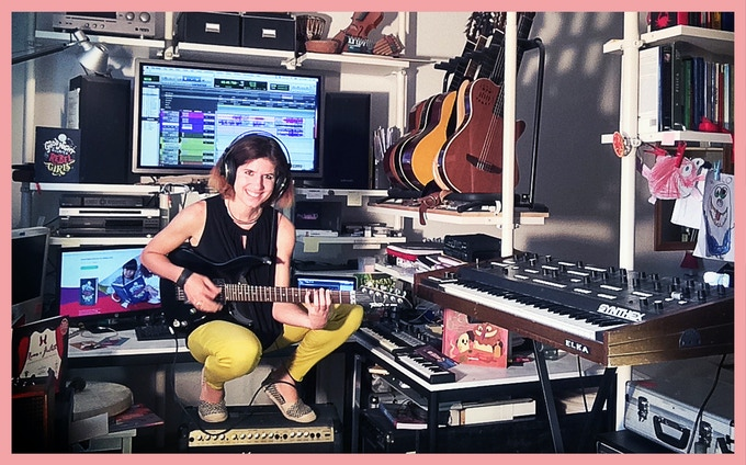 The sound-designer Elettra Bargiacchi in her Leipzig studio, in Germany.