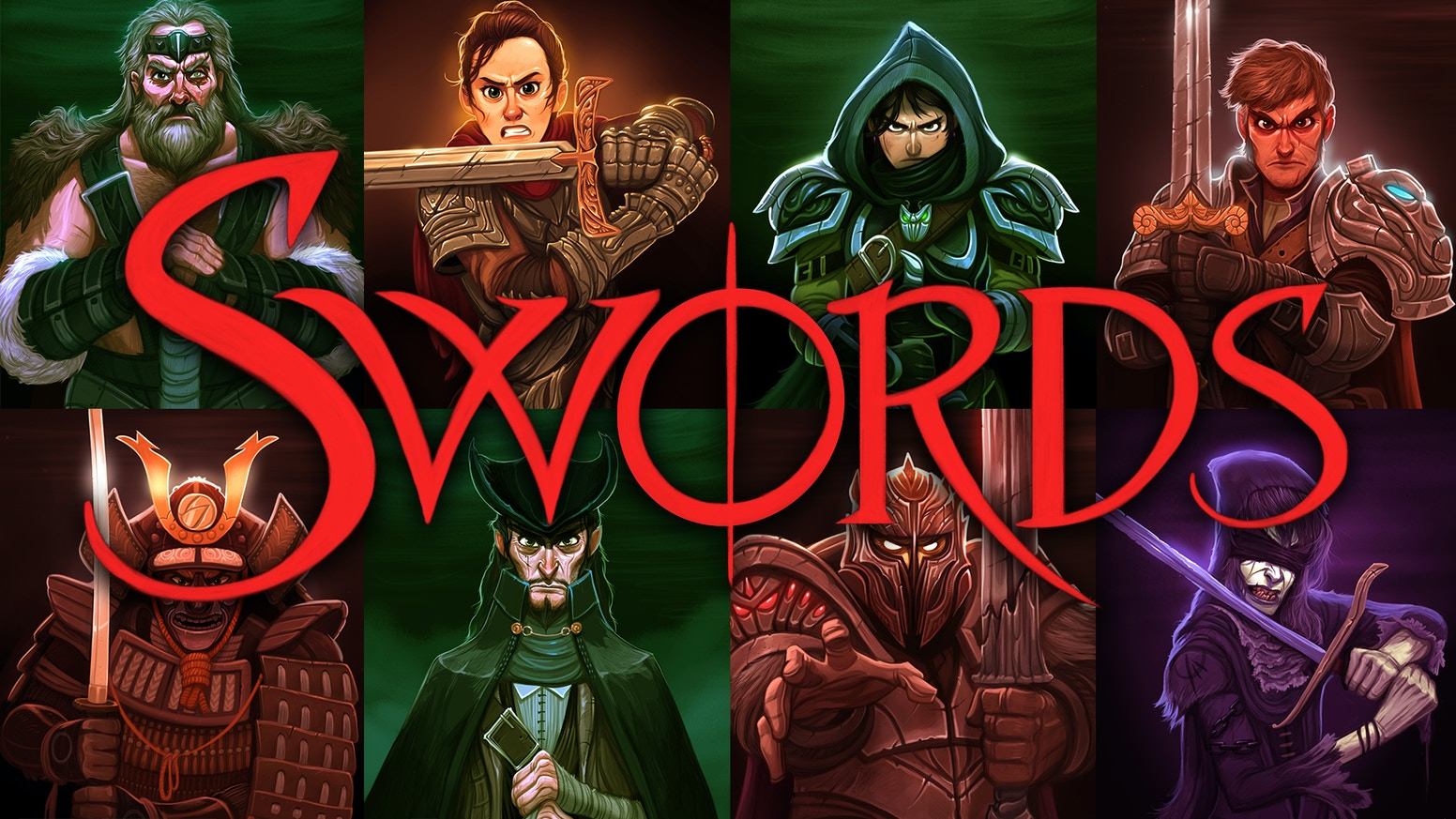 Swords is a fast-paced simultaneous action card game that feels like a multi-person sword fight!