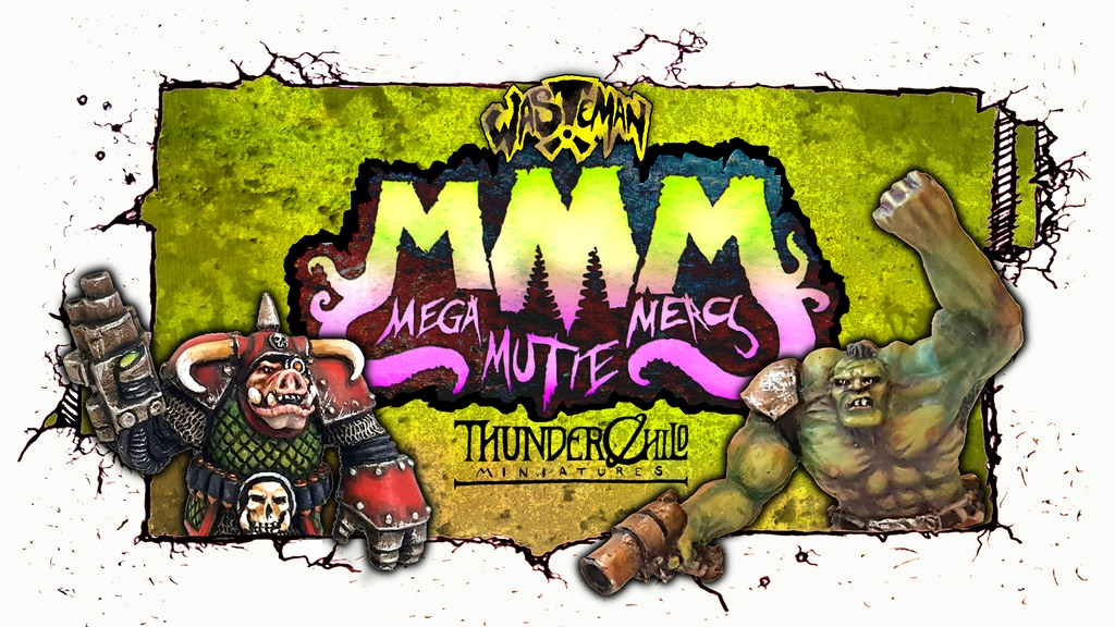 Mega Mutie Mercs - A Wasteman miniature range project video thumbnail