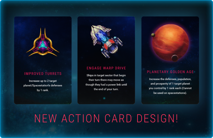 We have listened to our backers' feedback and have upgraded the action card design!