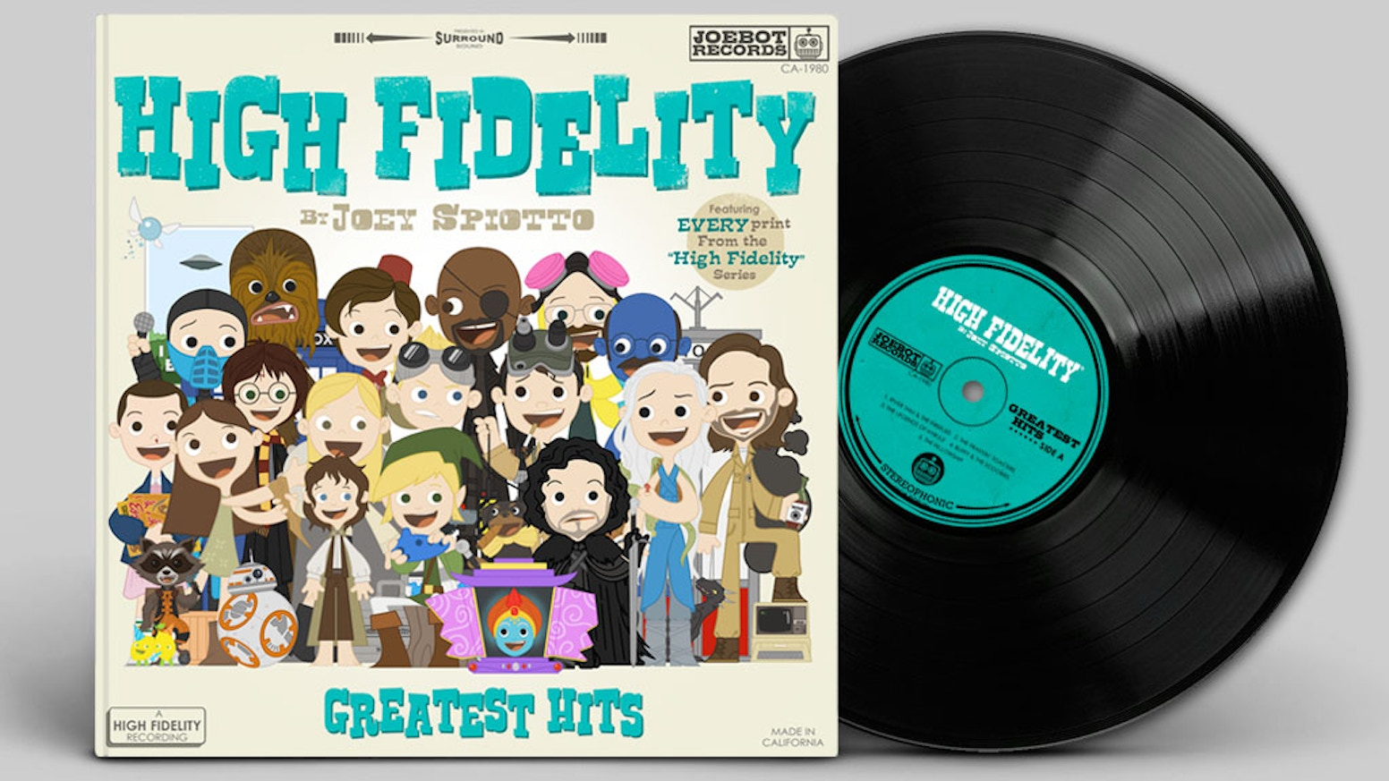 High Fidelity is an art book collecting all of the prints in the successful pop-culture inspired series by illustrator Joey Spiotto