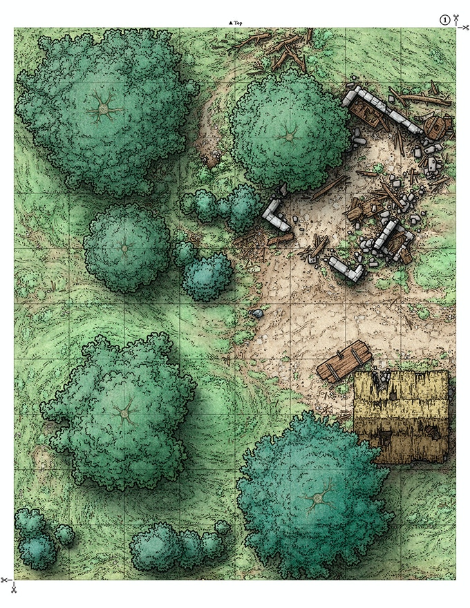 Main Map Tile One (For printing on letter or A4 size paper)