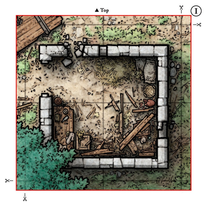 Sample Discovery Tile (Place over ruined shed in Main Map Tile One)