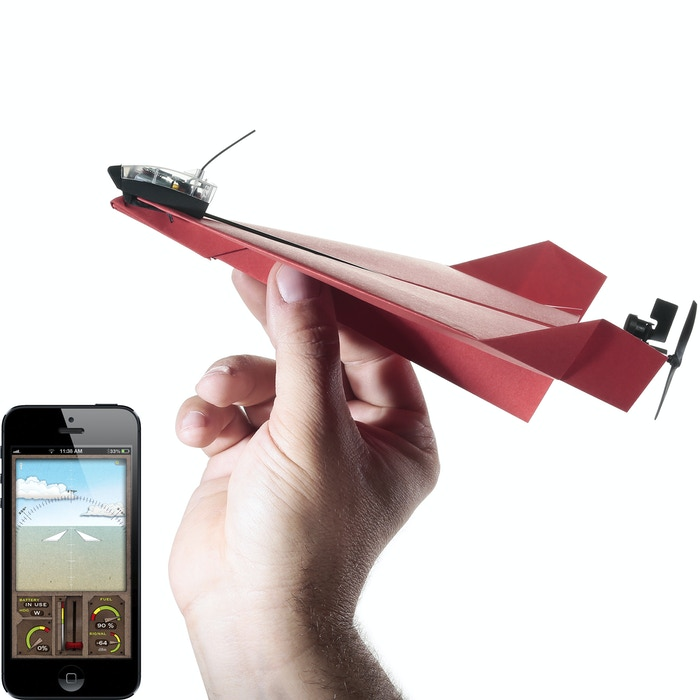PowerUp 3.0 turns your self-made paper airplane into a smartphone-controlled flying machine