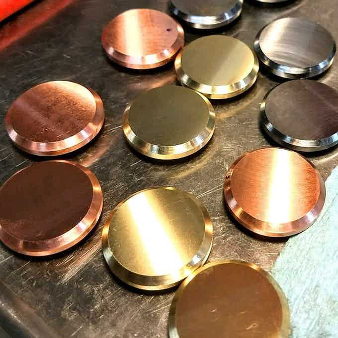 Titanium / Copper / Brass buttons for AXIOS spinner