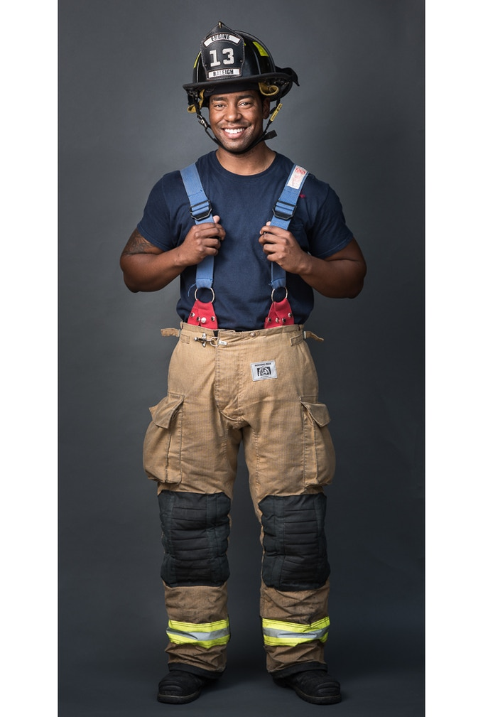 Timothy Caldwell, firefighter, from The Fabric of Raleigh series