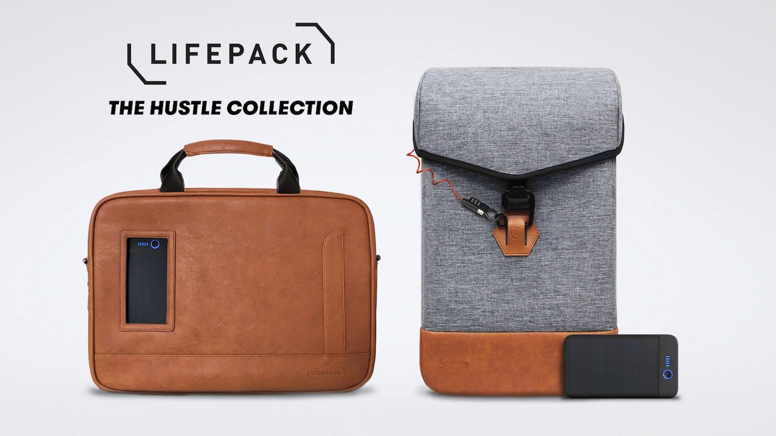 63c010809695 Lifepack Hustle: Solar + Anti-theft backpack & shoulder bag by ...