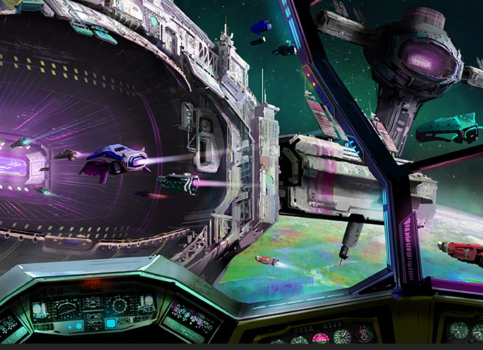 Head to the 'Flight Deck' to build and equip the ship that will propel you through the Galaxy.