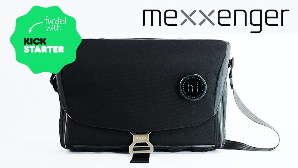 Mexxenger - high tech, modular messenger bag project video thumbnail