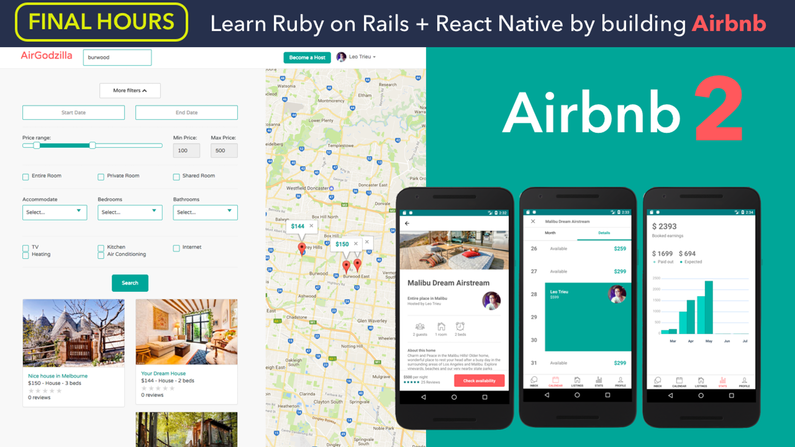 Build Your Own Airbnb with Ruby on Rails & React Native by