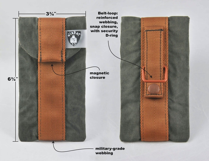 Phone pouch with belt strap