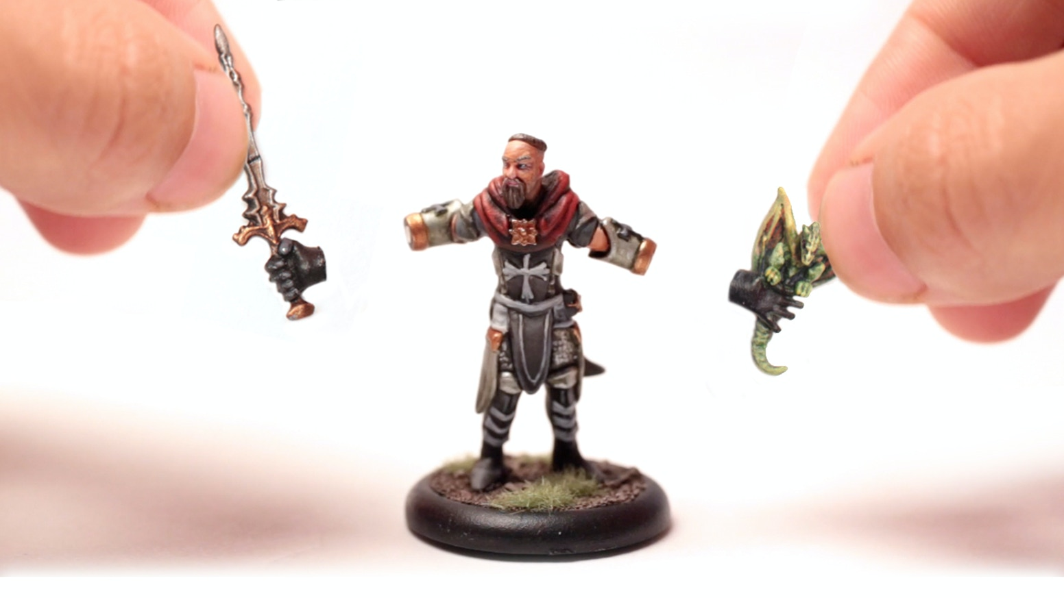 The world's first hot-swappable gaming miniatures! A line of minis with interchangeable magnetic items to customize your loadout.