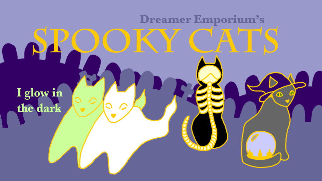 Project image for Spooky Cats Soft Enamel Pins