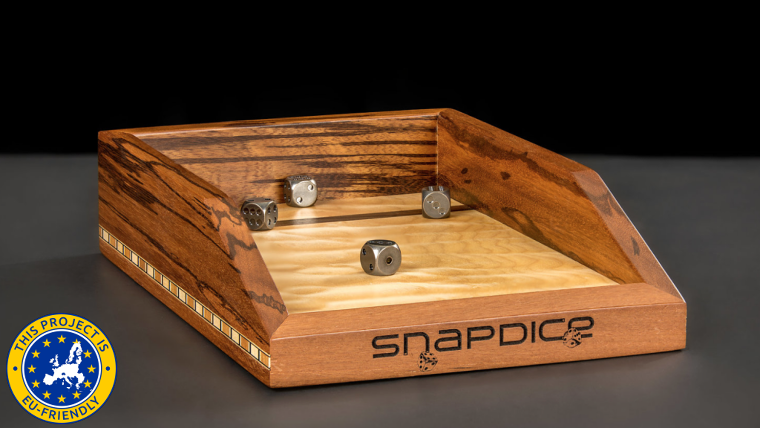 Premium Exotic Hardwoods. Perfectly Balanced Steel Dice. Rare Earth Magnets. Rolling the dice just became the focal point of your game.