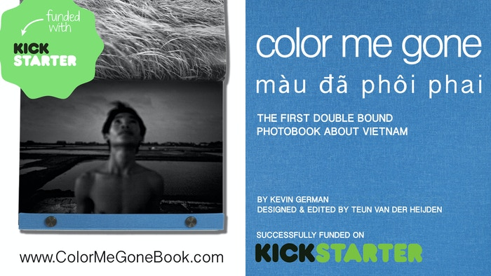 Color Me Gone is a photobook with a circular narrative about a developing Vietnam featuring a unique dual binding system.