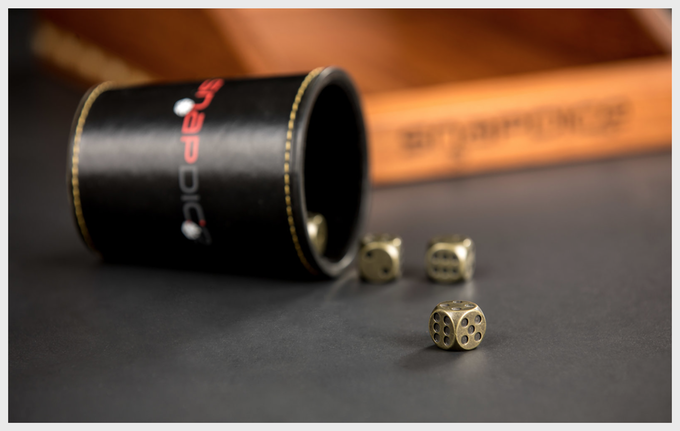 Precision Machined, Perfectly Balanced Steel Dice