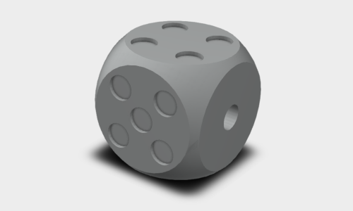 D6 Polyhedral Dice