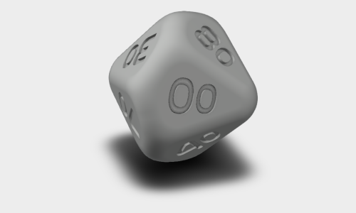D10 Percentage Polyhedral Dice