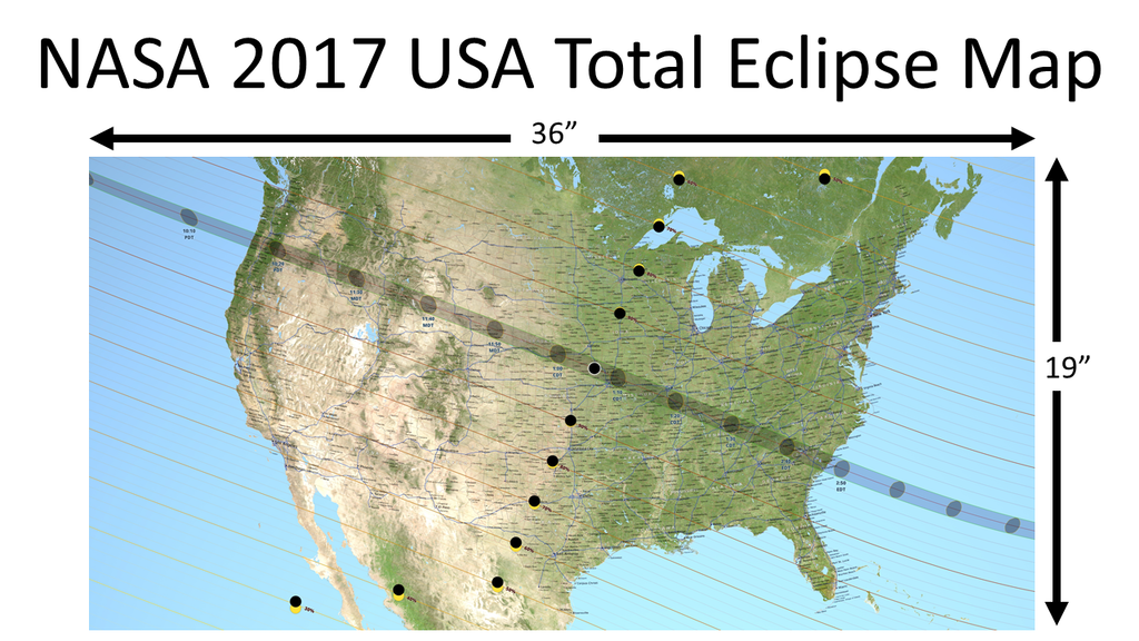 Project image for NASA 2017 Total Solar Eclipse Map