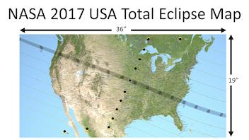 NASA 2017 Total Solar Eclipse Map