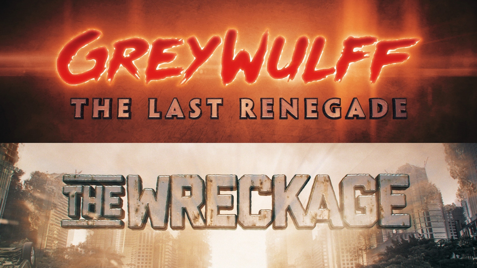 Greywulff/The Wreckage comic two pack are two completely original stories never before seen anywhere