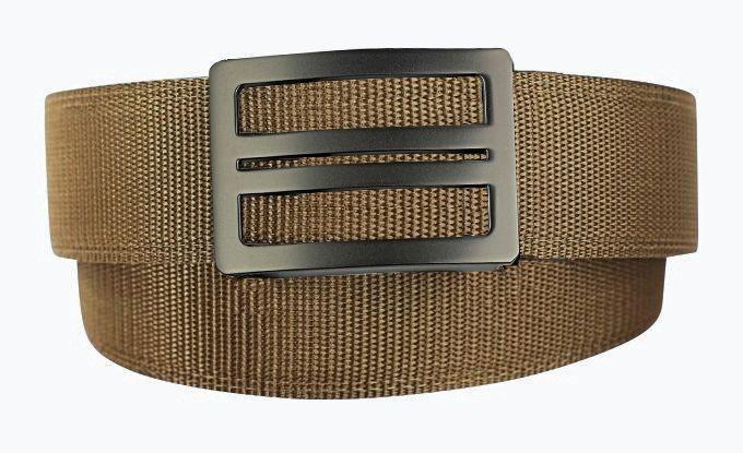 X1 Buckle & Tan Reinforced Nylon Belt