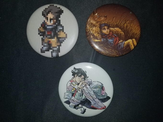 "2-1/4"" buttons, hand made for the love of Science!"